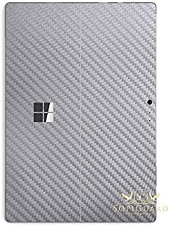 SopiGuard Skin for Microsoft Surface Pro 6 Precision Edge-to-Edge Vinyl Sticker (Carbon Silver)