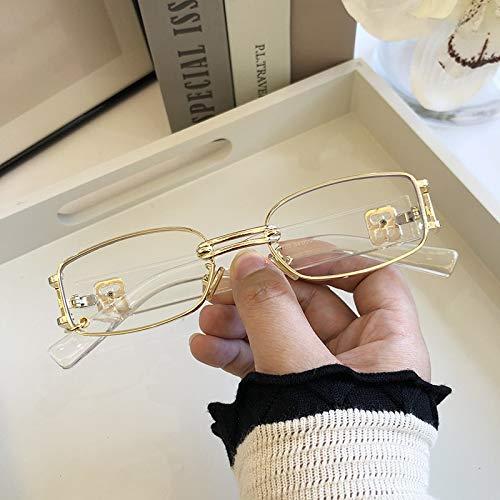 ghn Gafas de sol de moda retro europeas y americanas de las mujeres gafas de sol coreano moda cool hombres estrellas mismo estilo personalidad caja de metal alta Gafas Simple Para Montañismo Pesca