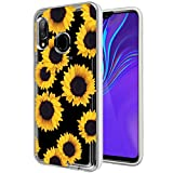 Zoeirc Galaxy A20 Case/Samsung A30 Clear Case for Girls Women, Soft TPU Shockproof Protective Transparent Phone Case Cover for Samsung Galaxy A20 / Galaxy A30 (Sunflower)