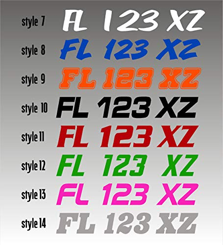 Boat Registration Numbers 1CL / 2 Pack / Custom State Registration Stickers / Vinyl Boat Decal Graphics Pair Registration Numbers