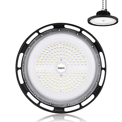 200W LED Industrielampe, bapro UFO LED Strahler 20000LM Werkstattlampe, IP65 Wasserdichte Hallenstrahler 120°Abstrahlwinkel Arbeitsleuchte Lampen Hallenbeleuchtung 6500K, LED High Bay Licht für Garage