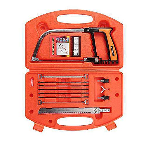 Magic Handsaw Set, 14 In 1 Multi Purpose Diy Bow Saw, Universal Hand Saw Kit Toolbox Of Multi Blades Set Work As Hack Saw, Coping Saw, Bow Saw, Wood Saw, Steel Saw (red)