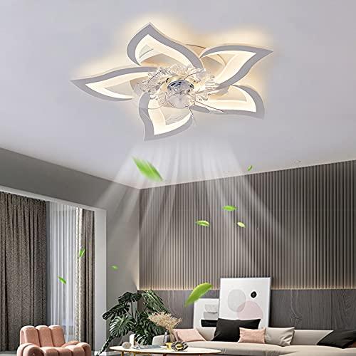 ACCZ Ventilatore da Soffitto, Ventilatore a Soffitto a LED a velocità Regolabile, Luce del Ventilatore Soffitto Dimmerabile da 50 W con Temporizzazione, Telecomando, Camera da Letto, Soggiorno