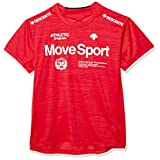 [デサント] ブリーズプラス Tシャツ 半袖 MOVE SPORT ストレッチ 吸汗速乾 高通気 DMMPJA61 メンズ RDM M