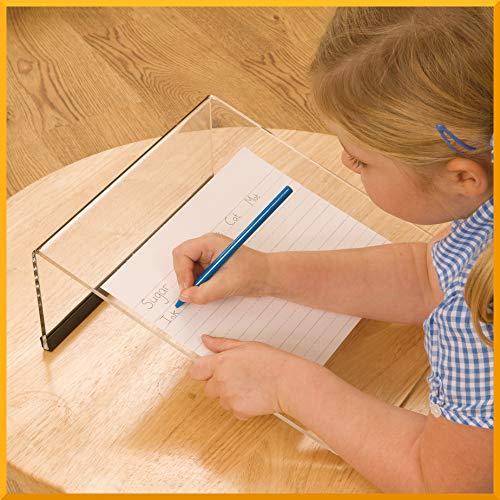Clear Acrylic writing Slope per scrittura disegno pittura con migliorata postura ergonomica