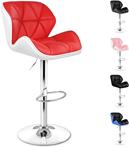 ALFORDSON 2 Pcs Bar Stools with Anti-Slip Floor Protectors Swivel Height Adjustment Counter Dining Chair with 2-Year ...