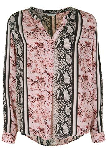 FROGBOX Damen Bluse mit Schlangen-Print mit V-Ausschnitt