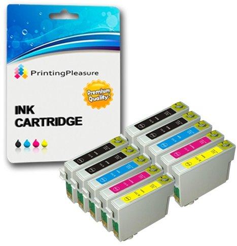 10 Cartuchos de tinta compatibles para Epson Stylus S20 S21 SX100 SX105 SX110 SX115 SX200 SX205 SX210 SX215 SX218 SX400 SX415 SX515W SX600FW D78 D92 D120 DX4000 B300F | T0711 T0712 T0713 T0714 (T0715)