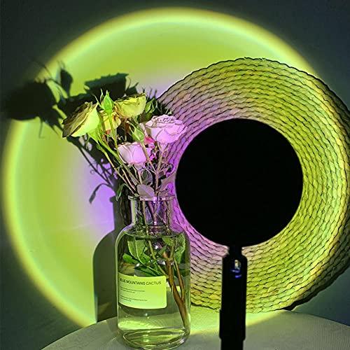 LED Moon Rainbow Sunset Proyector Luz de noche Hogar Dormitorio Coffe Shop Bar Tomar fotos Fondo Decoración de pared Lámpara de mesa-Sunny
