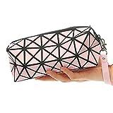 1bolso plegable para mujer, con diseños de rombos, de piel sintética, en forma de cubo, para...
