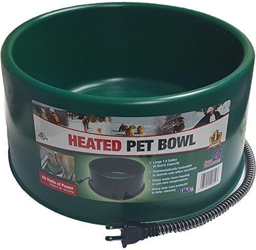 Farm Innovators Heated Dog Cat Goat Pet 60 Watt 1.5 Gallon Plug In Water Bowl