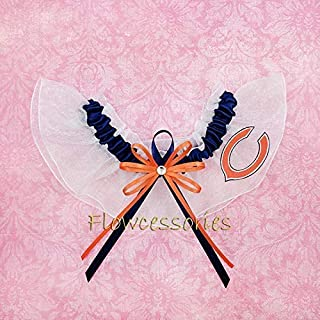 Chicago Bears handmade bridal wedding keepsake garter