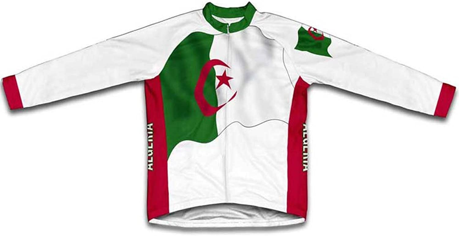 Algeria Flag Winter Thermal Cycling Jersey for Women