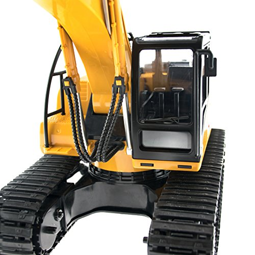 RC Auto kaufen Baufahrzeug Bild 5: efaso 1:14 RC Bagger 1550 - 2,4 GHz Baustellenfahrzeug mit Licht und Sound, Schaufel aus Metall, Aufnahmemodus und umfangreichen Steuerungsmöglichkeiten*