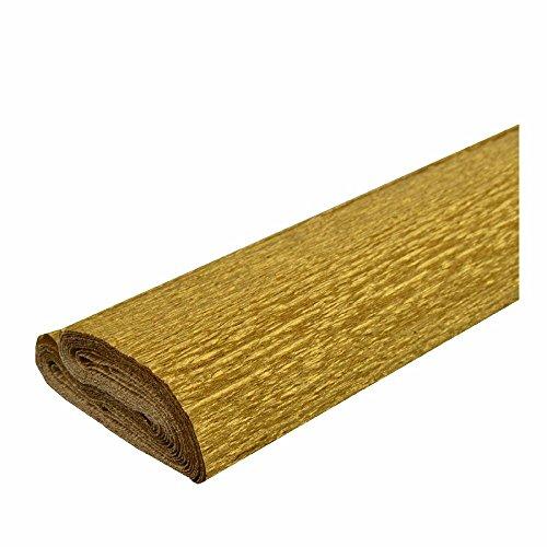 Krepppapier gold 50x250 cm Rolle färbt nicht ab bei kontakt mit Wasser ca. 40g/m²