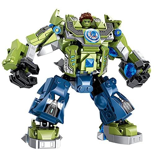 ASDFG DIY, Modelo ensamblado, Juguetes educativos, Figuras de acción de superhéroes, transformación Mecha Hulk, Ladrillos de Dibujos Animados, Bloques de construcción de Juguete