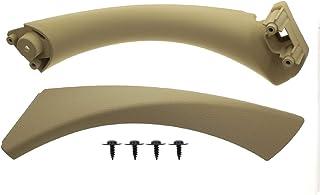 MOTOALL Front Right Inner Door Panel Handle + Door Pull Trim Cover for BMW Sedan E90 3 Series 51417230854 Beige