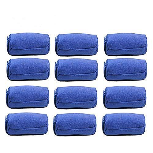 ESALINK Dry Heat-free Nighttime Hair Curlers Hair Rollers Soft Sponge Styler Rollers 3 Inch Mini Rollers 12pcs