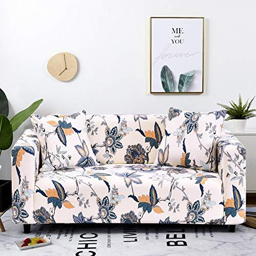 ASCV Fundas de sofá elásticas Protector de Muebles elástico Funda de sofá l Funda de sillón para Sala de Estar 1/2/3/4 plazas A2 4 plazas