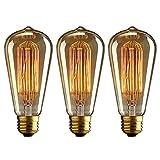 Proxinova Set of 3 ST64 Vintage Light Bulb Retro Old fashioned Edison Style E27 40W Incandescent Edison Bulb...