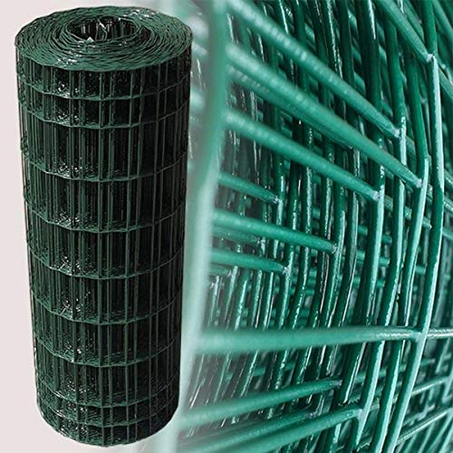 Moreda Maschendraht für Gartenzaun, Höhe 1m, Maschengröße 100x50mm, Rolle mit 25m