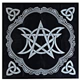 Mantel de tarot de 49 cm, triple astrología, tela de tabla de franela con impresiones de mesa de juego
