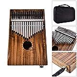XIANGSHAN Pianos de Pulgar 17-Tono Paquete de la Caja eléctrica de Piano Pulgar EQ folleto Acacia Mukalimba Piano de la Entrega de Piano Cable de Audio + (Size : 17-Tone)