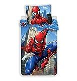 Juego de funda nórdica individual de algodón de Spiderman