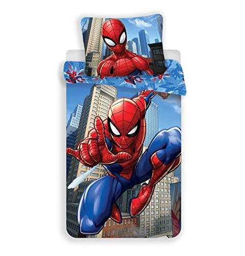 Spiderman Juego de Cama Individual de algodón