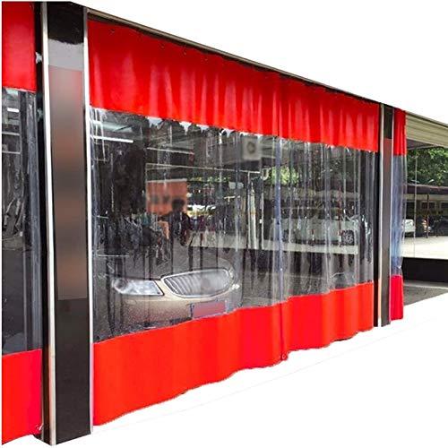 Lona alquitranada Lona Resistente, Cortina de Partición Impermeable Transparente Exterior, Panel Lateral de Tienda de 0,5 mm, a Prueba de Viento a Prueba De Polvo para Cubierta de Plantas
