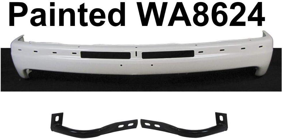 Super sale Uncle Johnny Front Bumper White Max 61% OFF Outer Face Brace Bar Compatiable