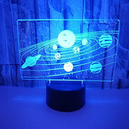 3D Night Light Crack Universe Bunte Touch LED Stereo Vision Nachtlicht 7 Farbvariationsgeschenke für Jungen und Mädchen
