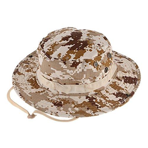 Ruifu Outdoor Camouflage Hut Sommer Angeln Sonnenhut UV-Schutz Outdoor Boonie Hat, Desert Digital