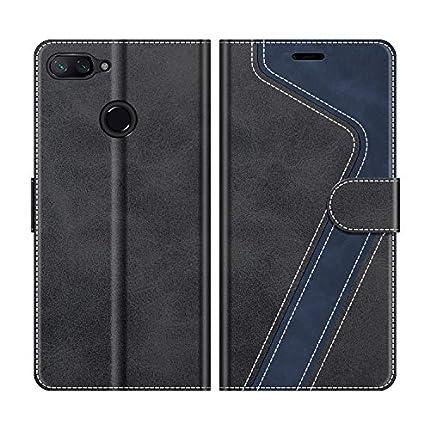 MOBESV Funda para Xiaomi Mi 8 Lite, Funda Libro Xiaomi Mi 8 Lite, Funda Móvil Xiaomi Mi 8 Lite Magnético Carcasa para Xiaomi Mi 8 Lite Funda con Tapa, Negro