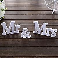 Mr&Mrsサイン結婚披露宴恋人テーブルトップセンターピース素朴なブライダルシャワー記念日の装飾写真小道具プレゼント