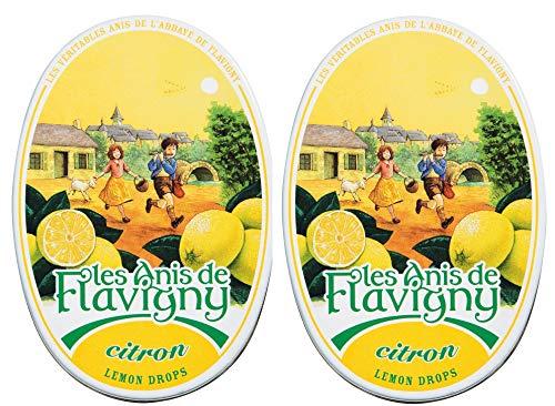 Les Anis de Flavigny - Anisbonbons - Zitronendragees - Citron - 2er Pack