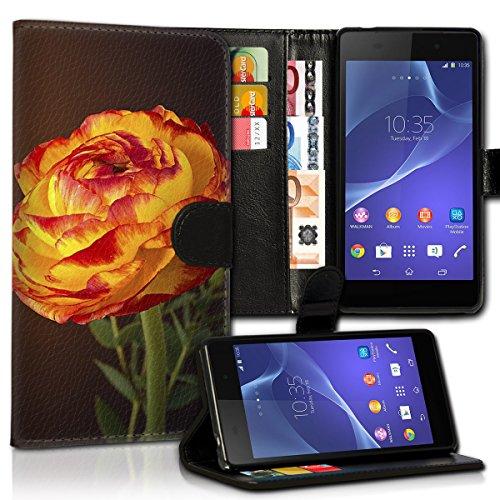 wicostar Book Style Wiko Sunset 2 Premium PU-Leder Tasche Flip Brieftasche Handy Hülle Kartenfächer mit Standfunktion für Wiko Sunset 2 - Design Flip MVC131