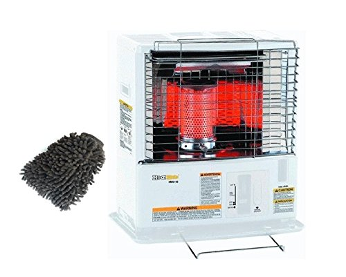 Sengoku CTN-110 Portable Radiant Kerosene Heater, KeroHeat 10,000 BTU (Complete Set), with Premium Microfiber Cleaner Bundle