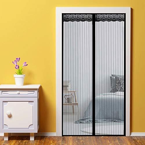 WEIZON Mosquitera Imanes Magnetica, 200x270cm(79x106inch) Cortina Puerta Exterior Magnética Automático Anti Insectos Moscas y Mosquitos para Balcones, (Negro)