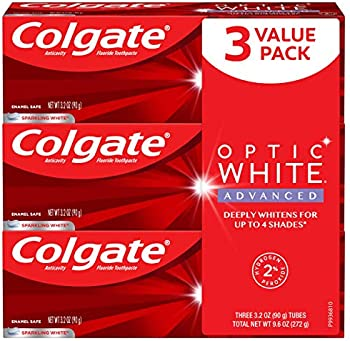 3-Pack Colgate Optic White Fluoride Toothpaste