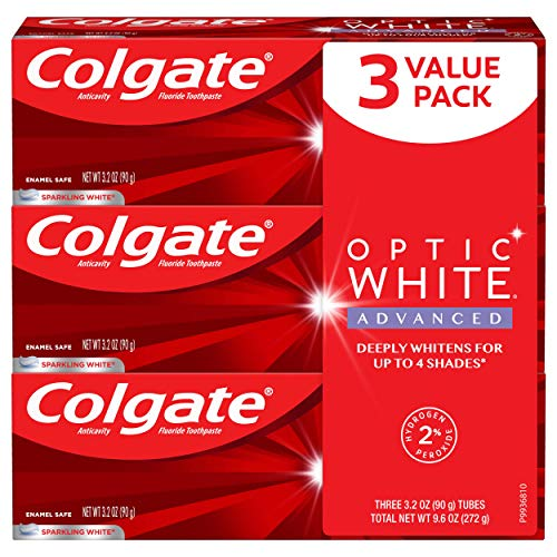 3-Pack 3.2-Oz Colgate Optic White Advanced Toothpaste (Sparkling White) $6 ($2 each) w/ S&S + Free Shipping w/ Prime or on orders over $25
