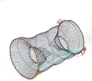 Dimart Pond Black 25cm Dia Cylinder Foldable Nylon Mesh Net Shrimp Crawfish Trap