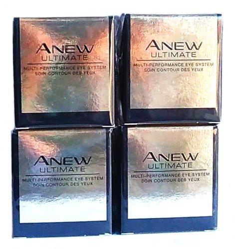 4 x Avon Anew Ultimate Multi-Performance 45+ Système Yeux 15ml (Lot de 4 pièces)
