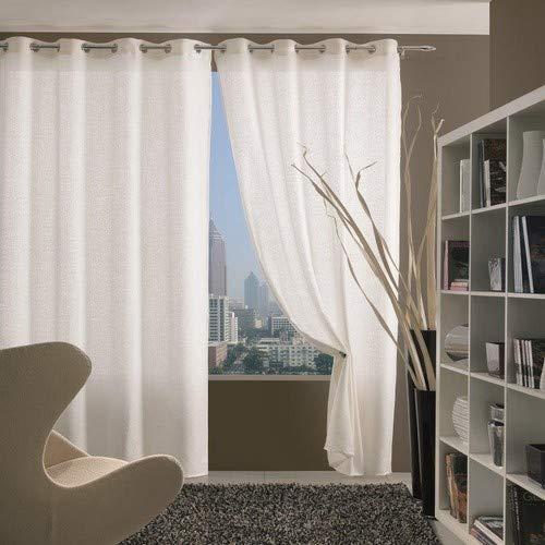 Home Collection TIF115 Tenda Tiffany, Poliestere, Bianco, 140x280 cm