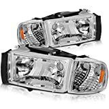 Best Headlights - DWVO Compatible with 94-01 Dodge Ram 1500/94-02 Dodge Review