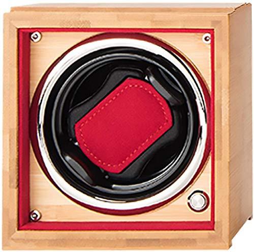 JJDSN Boîte d'enroulement de Montre Unique Shaker de Montre Automatique Plateau tournant en Bois Montre oscillante en Bois Organisateur de boîtier de Rangement 4 Vitesses réglable Convient aux Mon