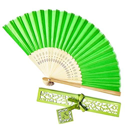 Andouy Retro Faltfächer/Handfächer/Papierfächer/Federfächer/Sandelholz Fan/Bambusfächer für...