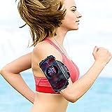 Vlllik 360° Rotatable Running Phone Armband with Key Holder and Headphone Hole, Adjustable Elastic Band, Fits All 4-6.7 Inch Smartphones for Hiking Biking Running Walking(Black)