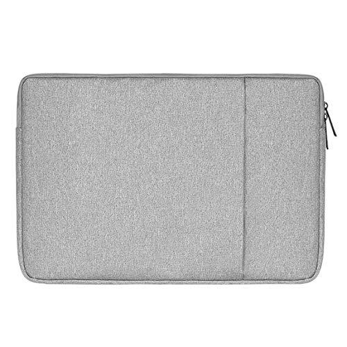 Iycorish wasserdichte Laptop Tasche Hülle Notebook Tasche Für Weiche Rei?Verschluss Hülle Tasche Hülle (Grau + 15,6 Zoll)