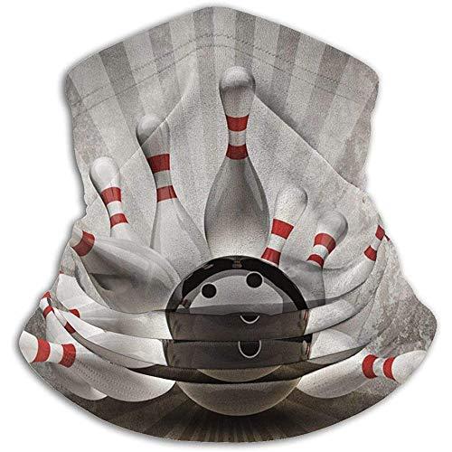 Duang Headwear Bowlingkugel Sport Vintage Halsmanschette Wärmer Multifunktionale Halsmanschette Rohr Bandanas Leichte Halswärmer Winddichte Halsmanschette Camping Stretchy Snowboard Wint